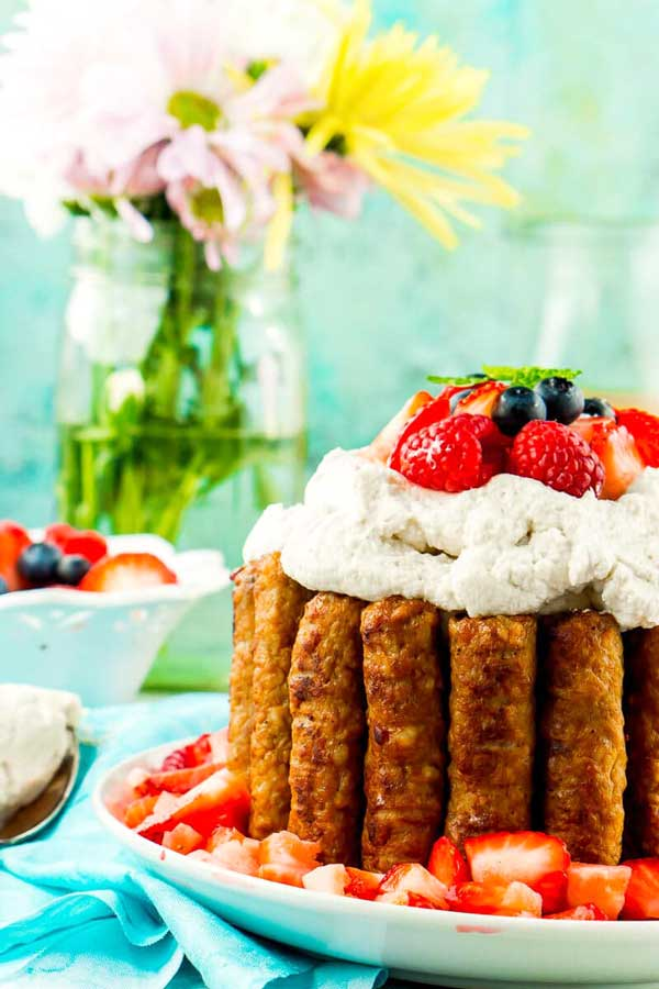 Sweet and Savory Breakfast Cake on a plate