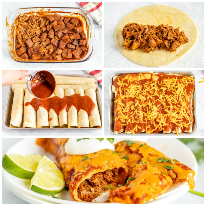 A picture collage of how to make the recipe.