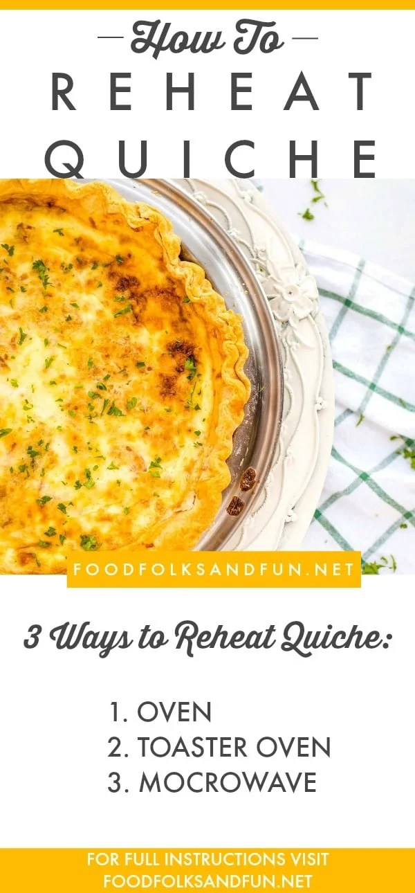 Tutorial on how to reheat quiche