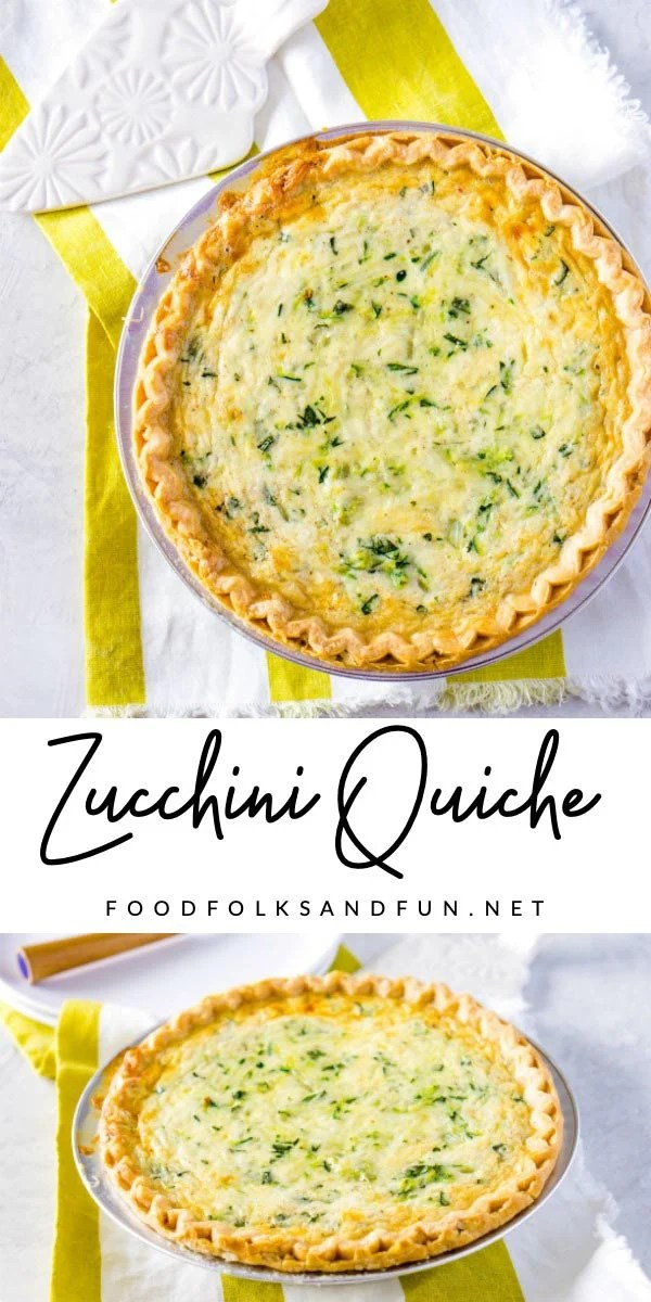 This Cheesy Zucchini Quiche is just the summer dinner recipe to make with fresh, in-season zucchini! This recipe serves 8 and costs $5.89. That's just 74¢ per serving! via @foodfolksandfun