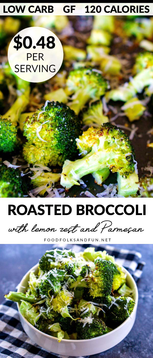 This Oven Roasted Broccoli recipe is an easy side dish that's low carb and gluten-free. It costs just $2.84 to make and serves 6.