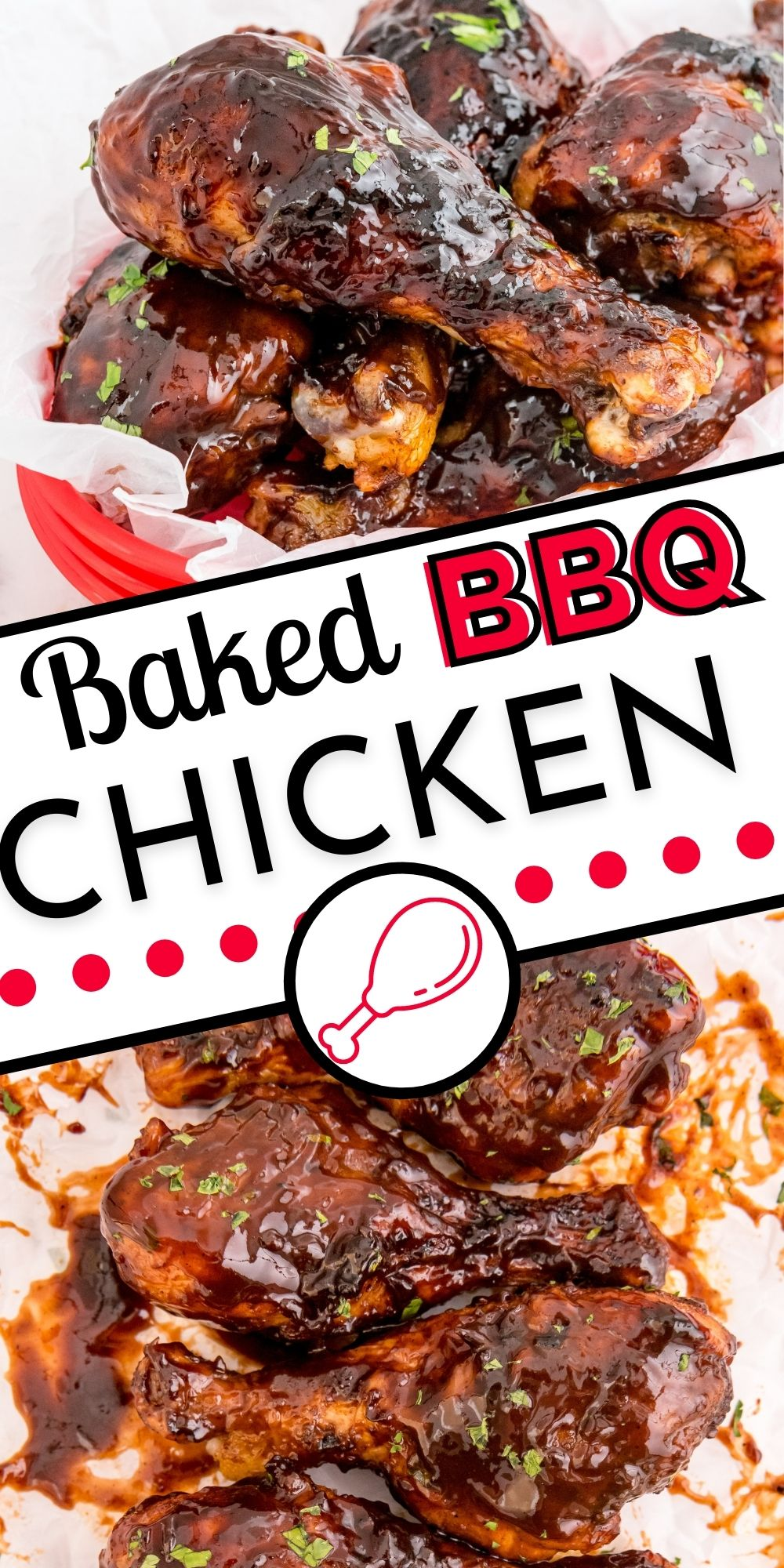 These Baked BBQ Chicken Drumsticks are an easy recipe that is made without firing up the grill. These baked drumsticks are family favorites at my house! via @foodfolksandfun