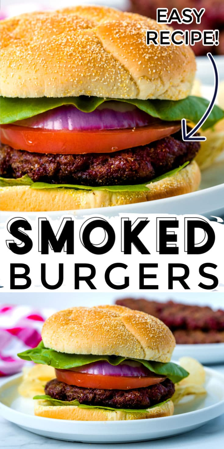 These Smoked Burgers are the best I have ever had! They're juicy and have an amazing dry rub that takes burgers to the next level! via @foodfolksandfun