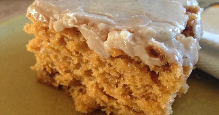 Homemade Pumpkin Spice Cake ((from a mix — a homemade mix))