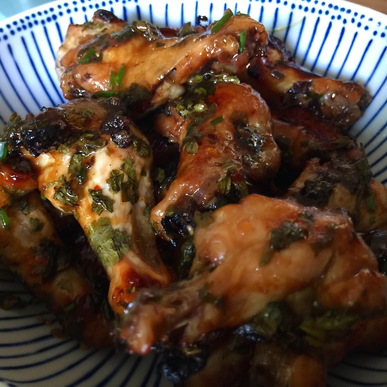 Asian Sweet Chili & Ponzu Glazed Oven-Roasted Wings