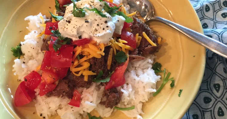 Simple Mexi-Bowls & the Most Delicious Recipe for Mexi-Style Shredded Beef