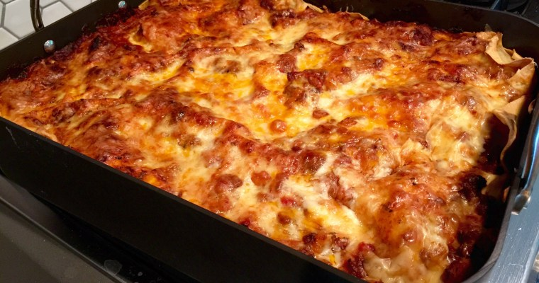 Epic Lasagna — Meat & Potatoes Meet Homemade Lasagna Noodles!!