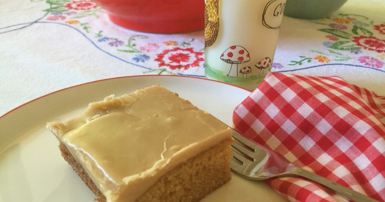 Brown Sugar Sheet Cake with Salted Caramel Stove-Top Buttercream