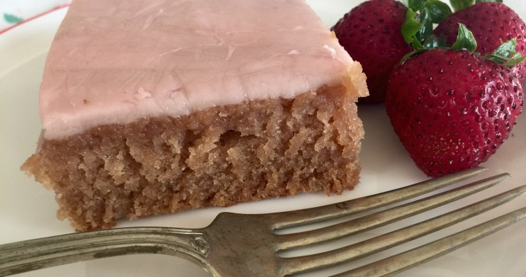 Old-Fashioned Fresh Strawberry Sheet Cake & Stove-Top Strawberry Buttercream