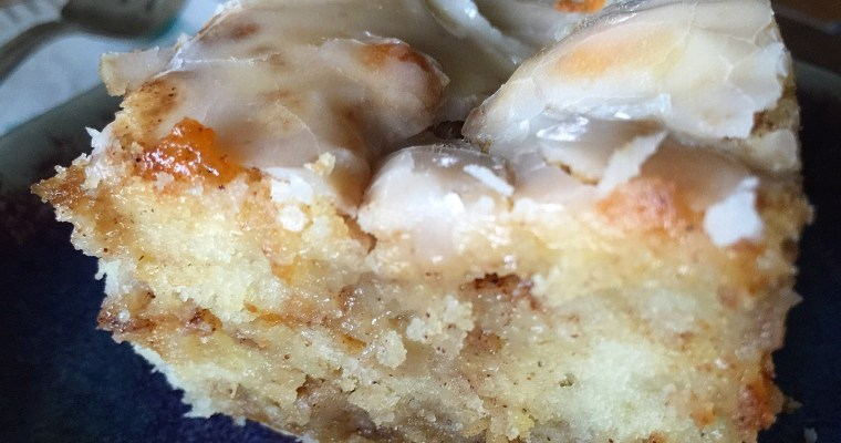 Homemade Cinnamon Roll Cake ((using your own homemade cake mix!))