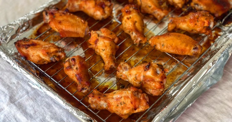 Oven-Roasted Honey BBQ Chicken Wings