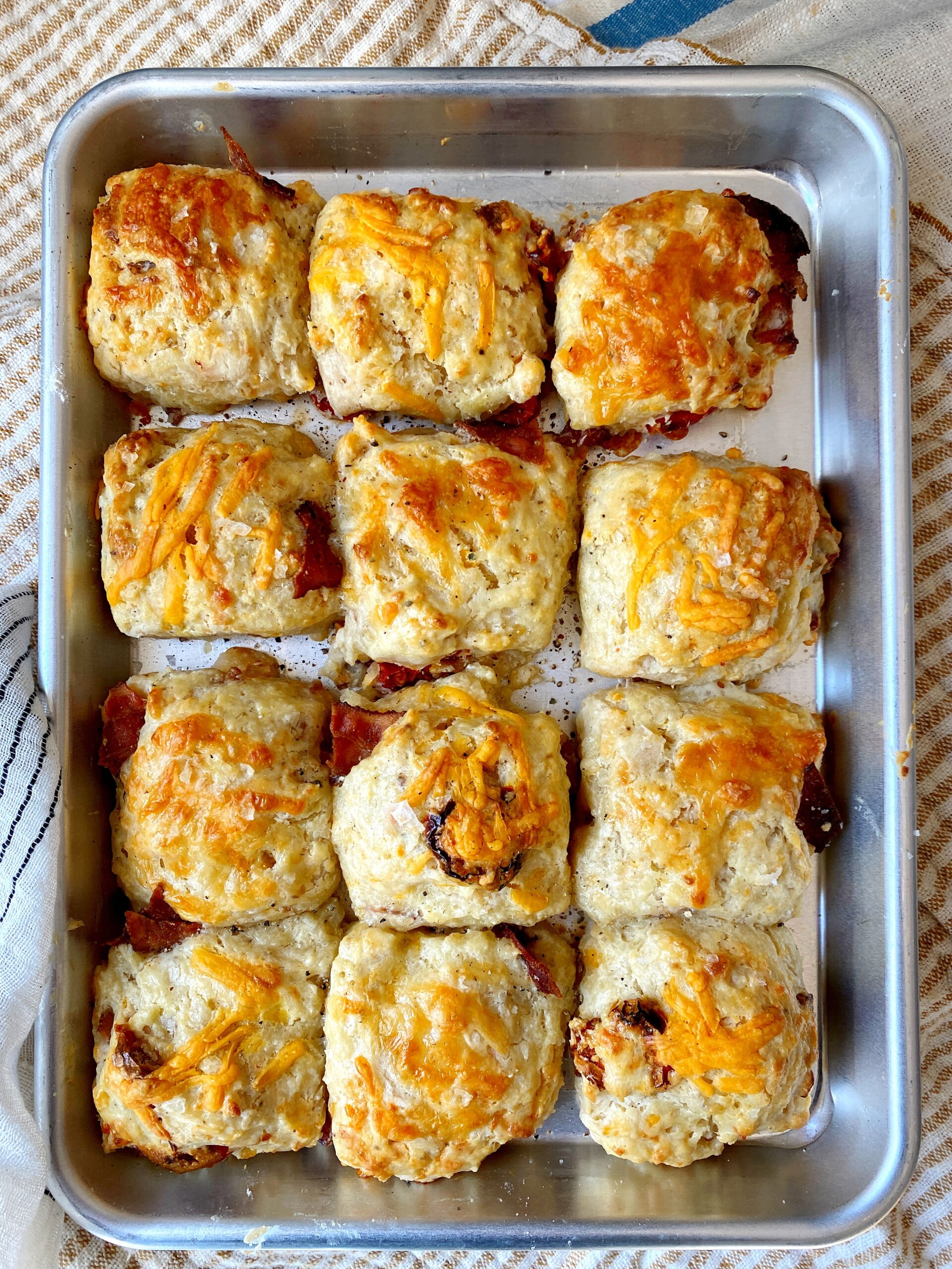 Bacon Cheddar Tomato Biscuits