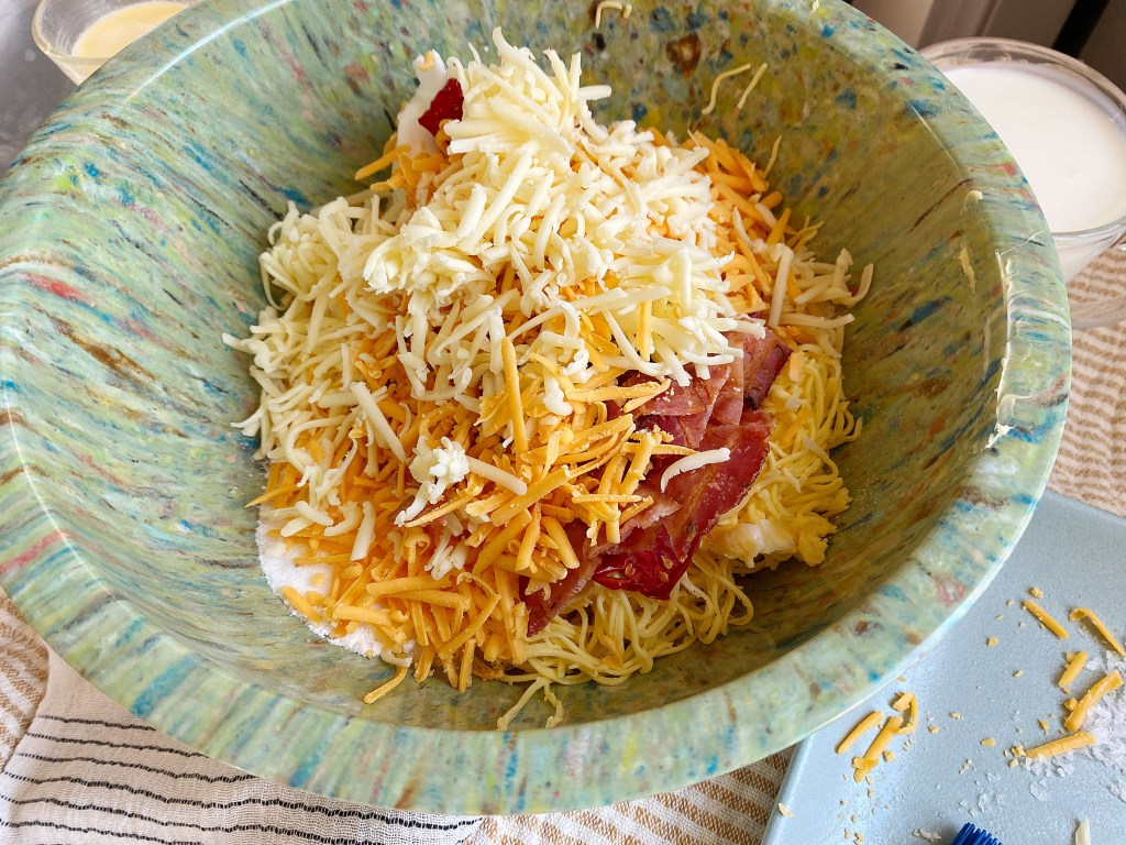 added cheese bacon tomatoes