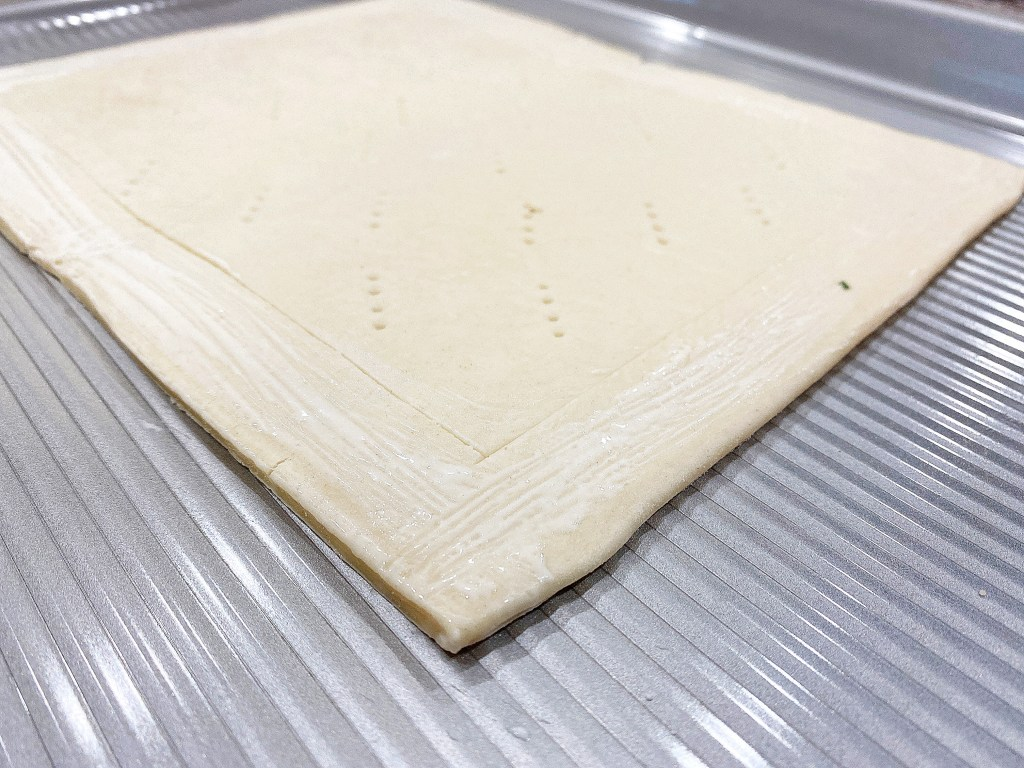 pricked and scored puff pastry