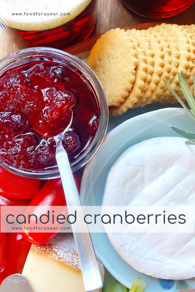 candied cranberries pin