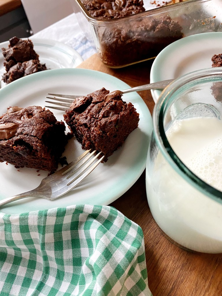 mint brownies served