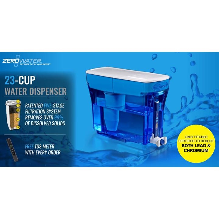 Zerowater 23 Cup 5 4l Dispenser Fridge Counter Or Office Free
