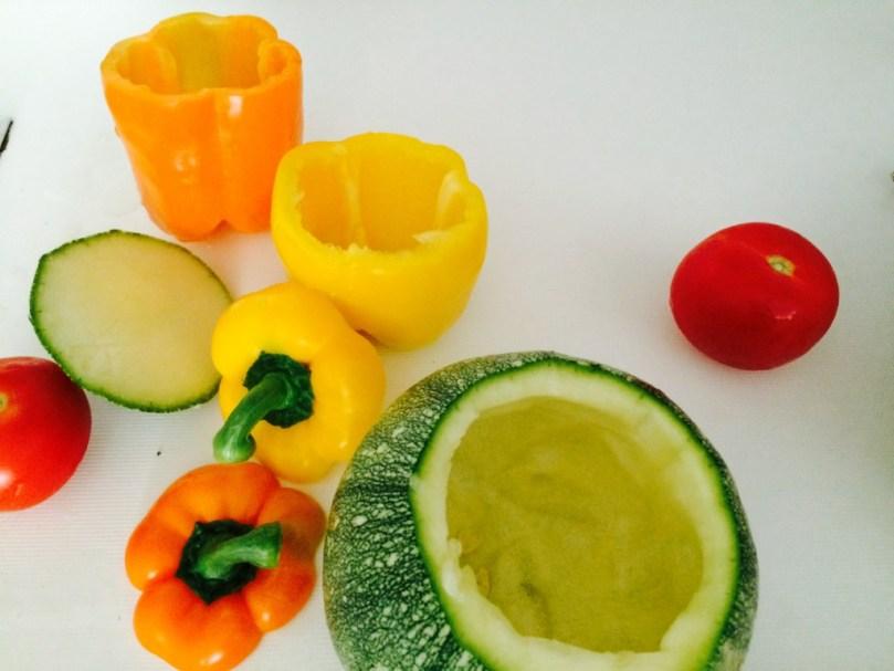 Gemüse bereit zum Füllen
