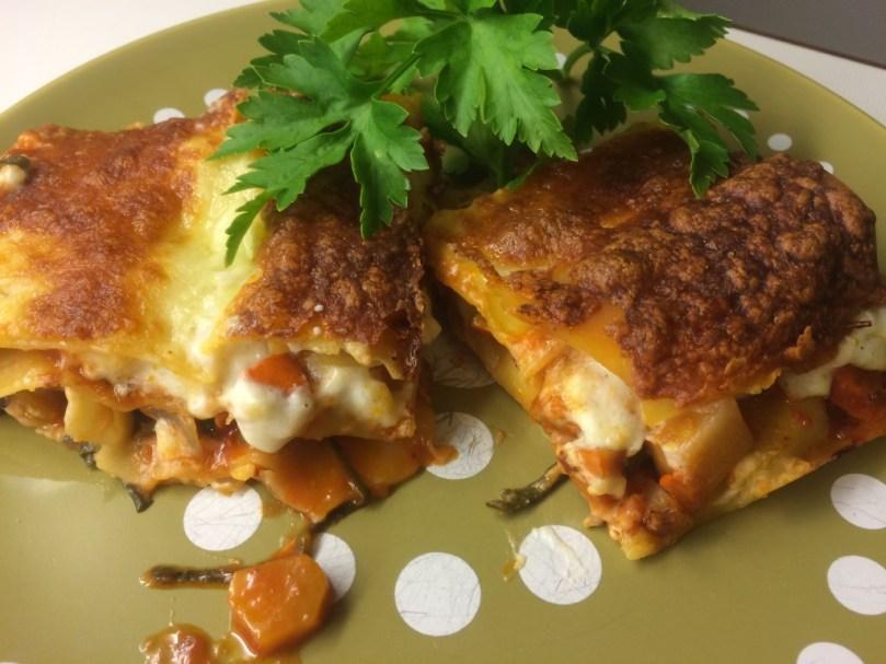 Mangold-Kürbis-Lasagne