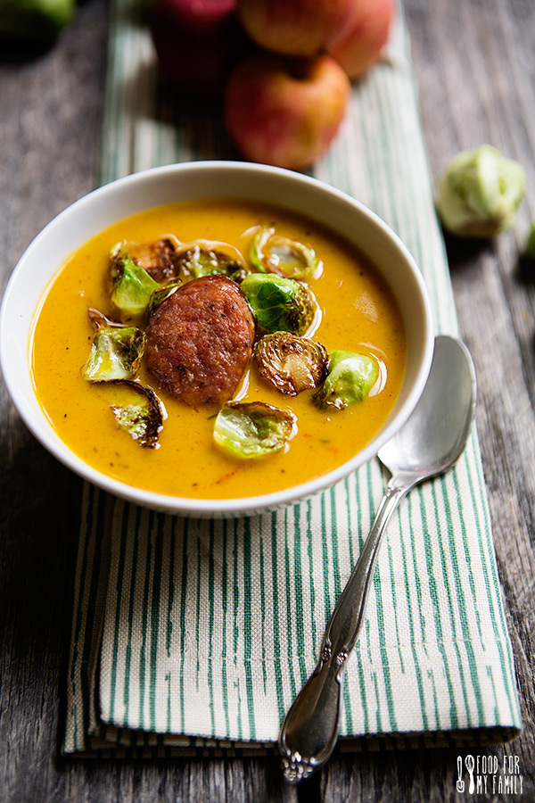 Kielbasa And Brussel Sprout Soup