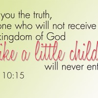 Faith Like a Child...