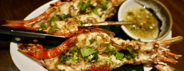 Grilled River Lobster| Ekkamai | Food For Thought