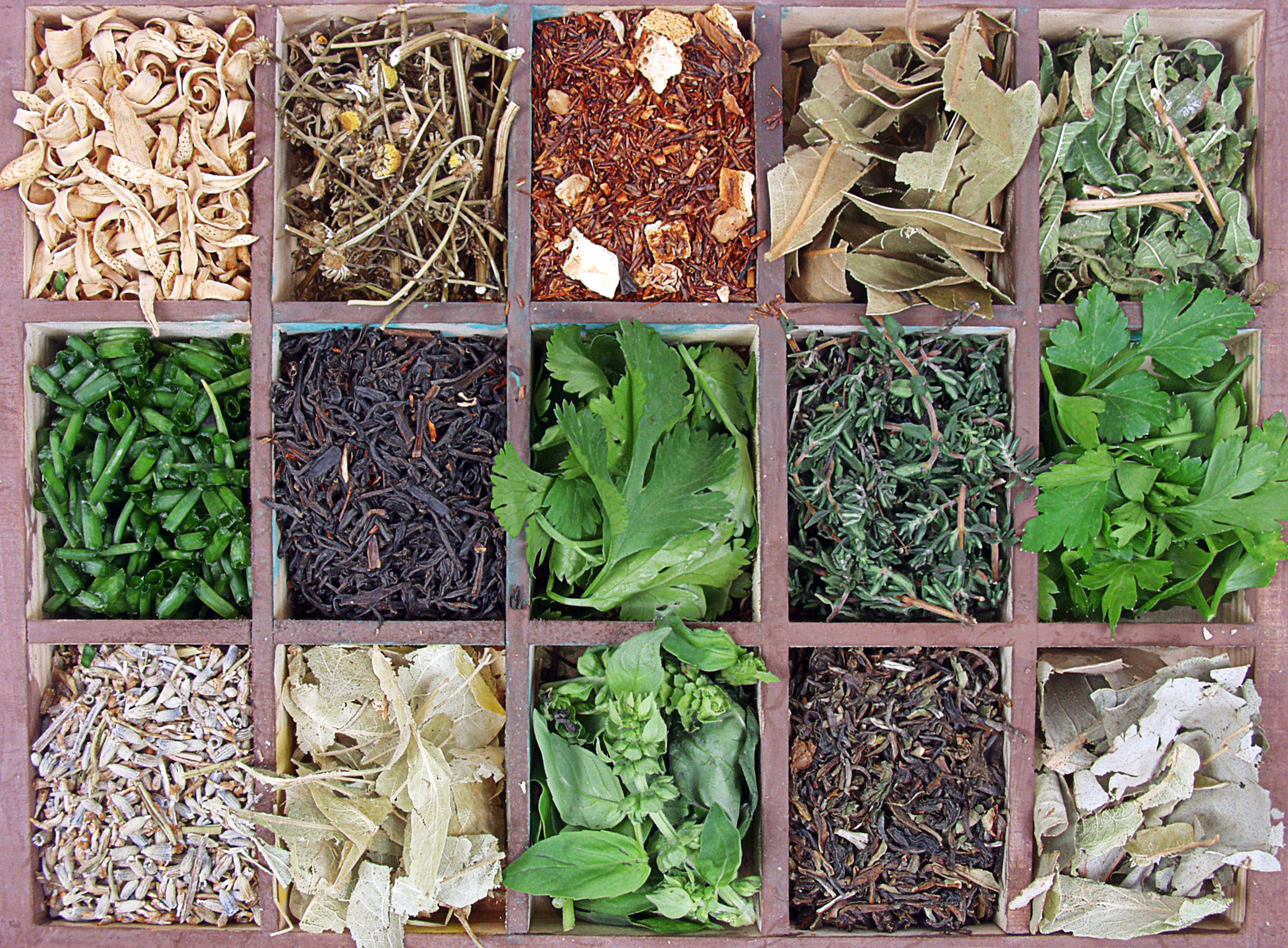 assortment of herbs and spices