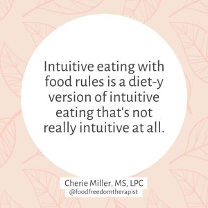 Intuitive Eating is Not a Diet