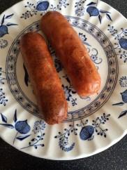 Breakfast: Sausages - we love Richmonds!