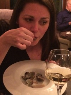 Alison and clam spoon