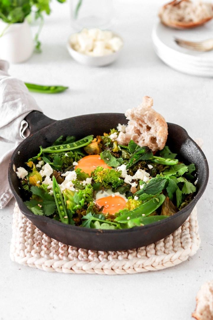Green Shakshuka(Vegetarian, Gluten, Grain Free & Low Carb)