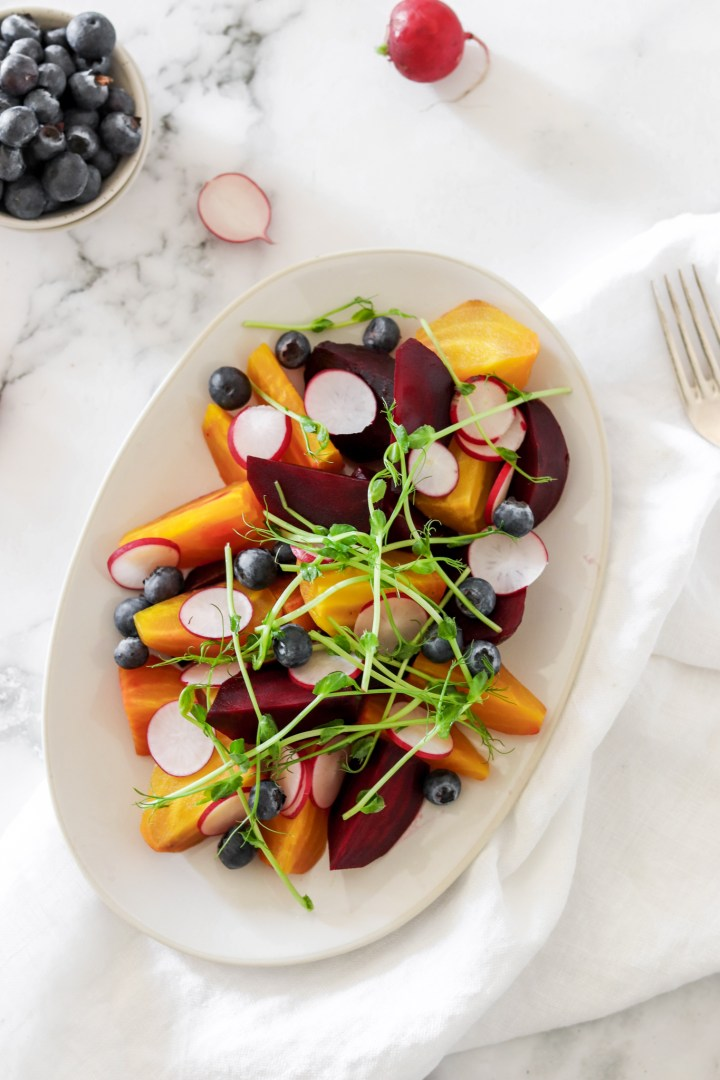 Beetroot Salad with Blueberries