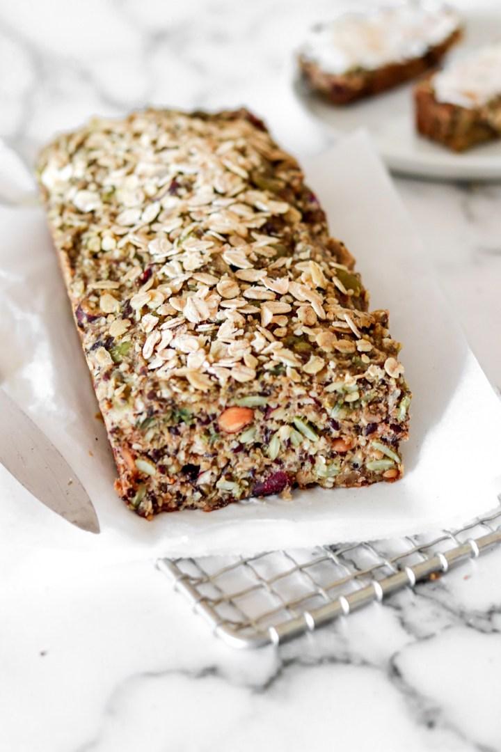 Easy Nut & Seed Bread (Vegan & Gluten Free)