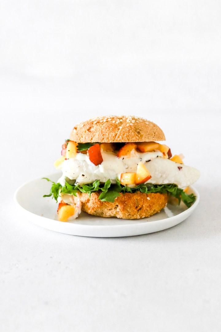 Summery Fish Burgers with Nectarine Salsa