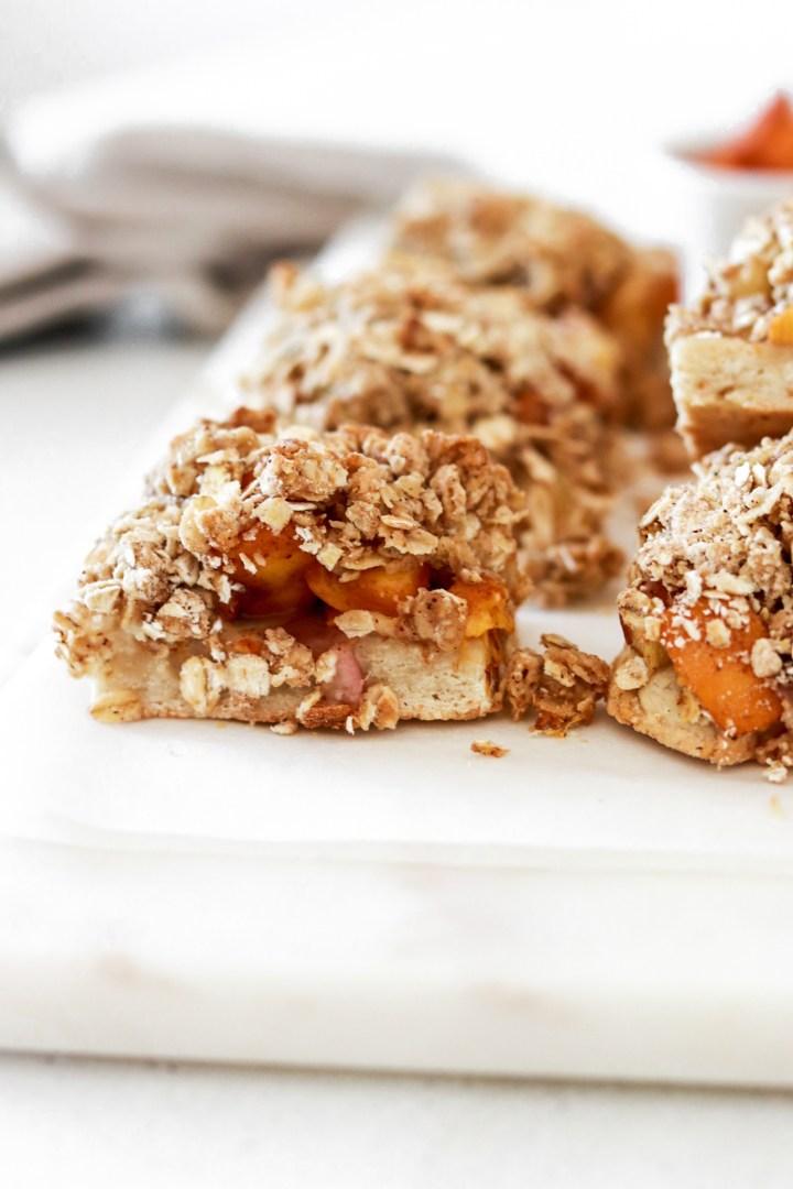 Healthy Oat Peach Bars