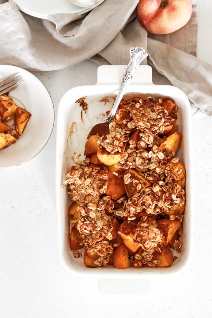 Peach Crumble (Vegan, Gluten, Oil, Sugar Free)