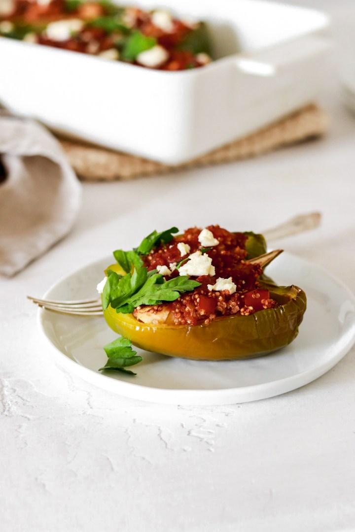 Quinoa Stuffed Bell Peppers (Vegan & Gluten Free)