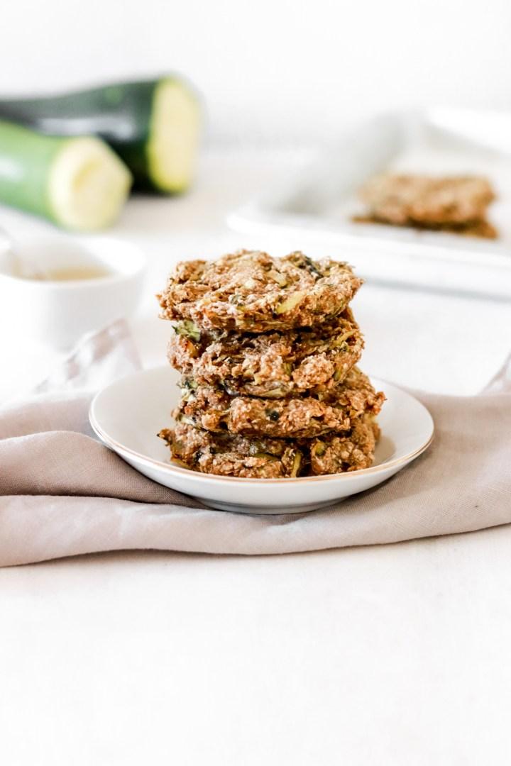 Zucchini & Tahini Breakfast Cookies