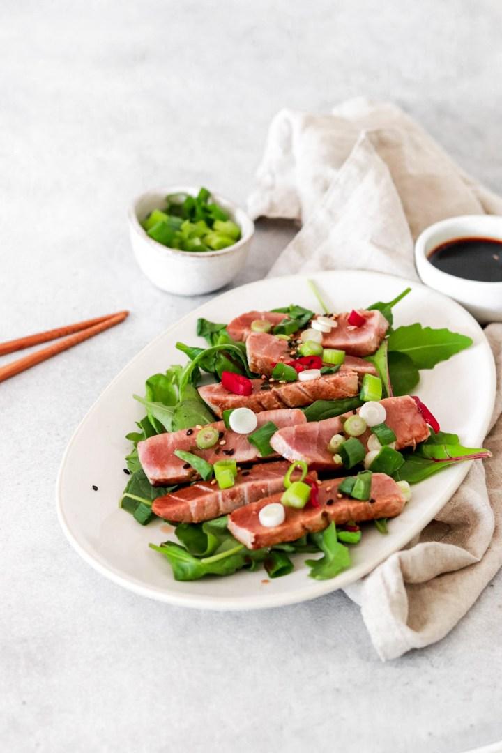 Asian Style Tuna Steak (Paleo, Keto & Low Carb)