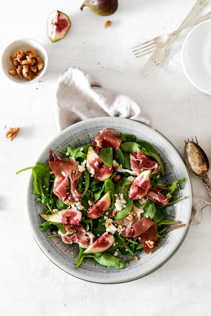 Fresh Fig, Prosciutto & Goat Cheese Salad