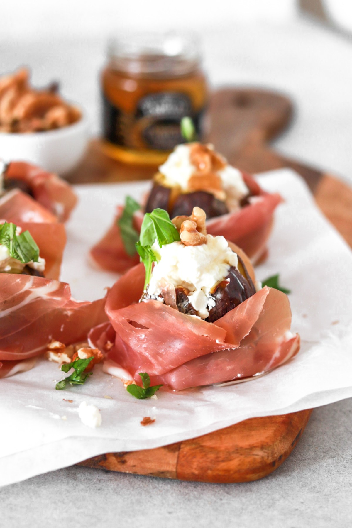 Fresh Figs with Goat Cheese & Prosciutto (Gluten & Grain Free) From Front