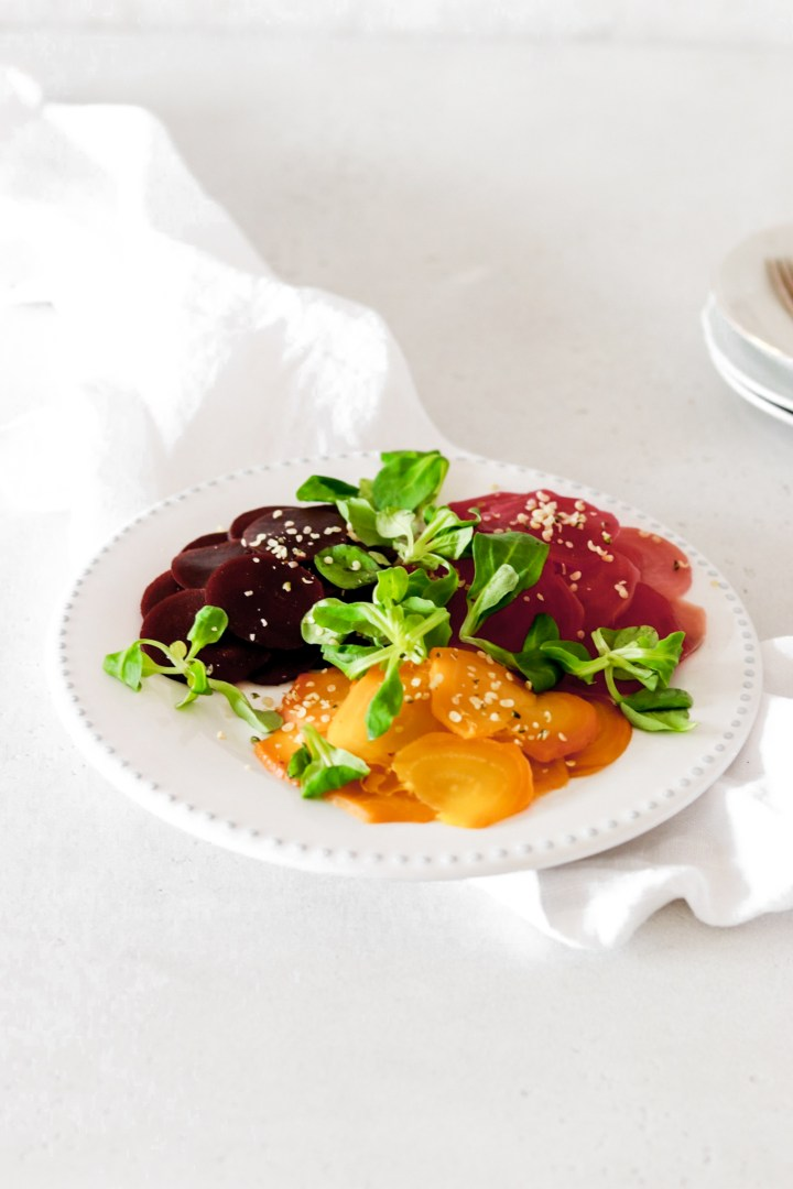 Beetroot Carpaccio using Cooked Beets