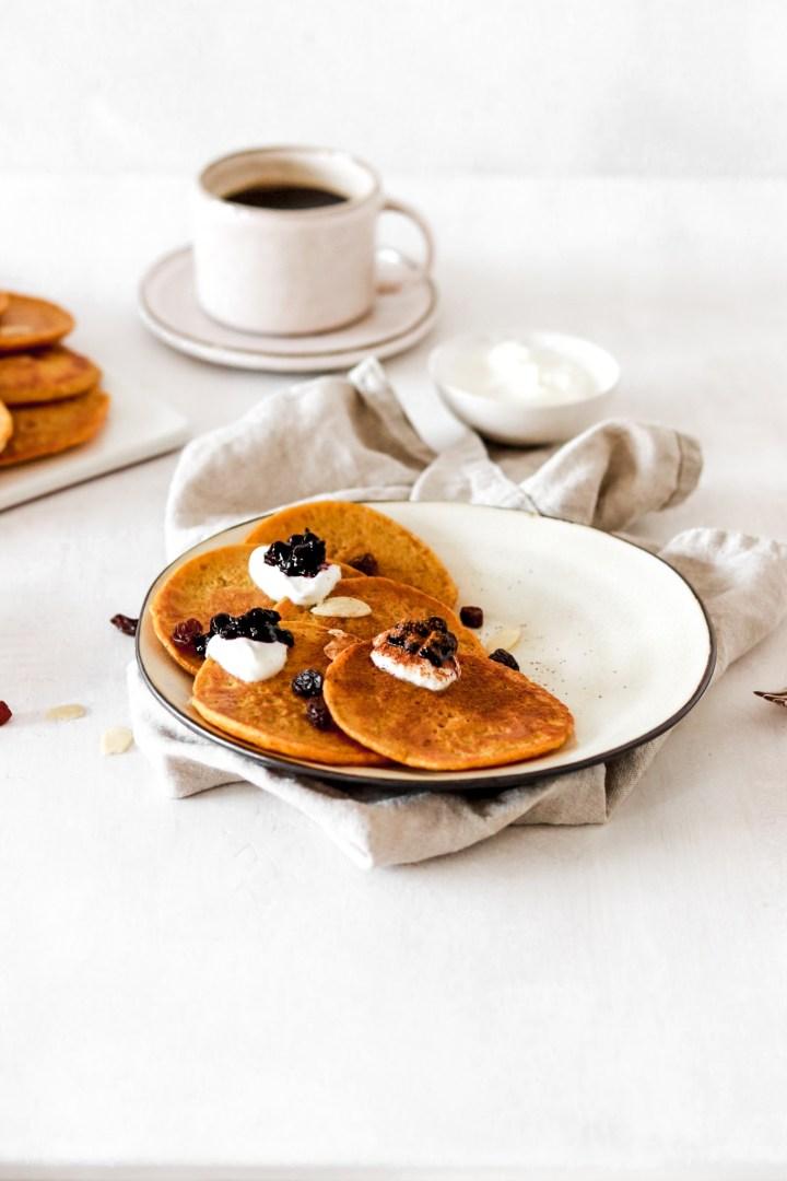 Saffron Pancakes (Gluten & Sugar Free)
