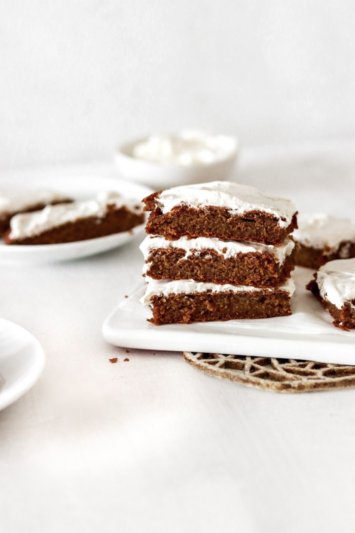 Spiced Sheet Cake (Gluten, Sugar & Oil Free)