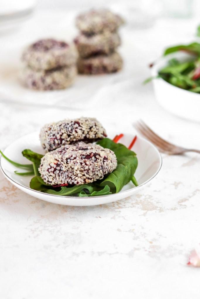 PurpleSweet Potato Patties (Vegan Friendly, Gluten, Dairy, Grain Free, Paleo) Serving