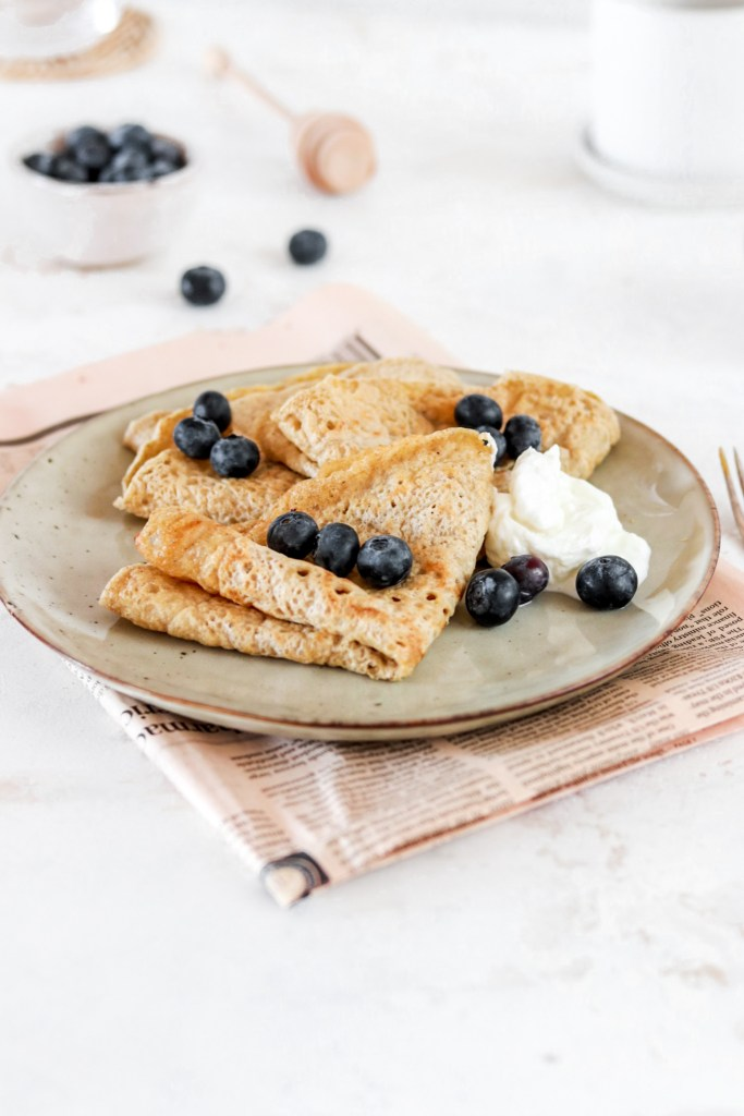 Swedish Pancakes (Gluten, Dairy, Sugar Free) From Front