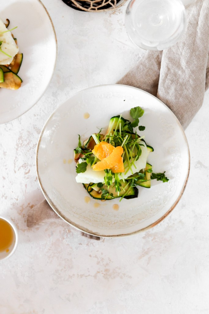 Low Carb Cod with Orange Dressing (Gluten, Grain, Dairy Free & Low Carb) From Above