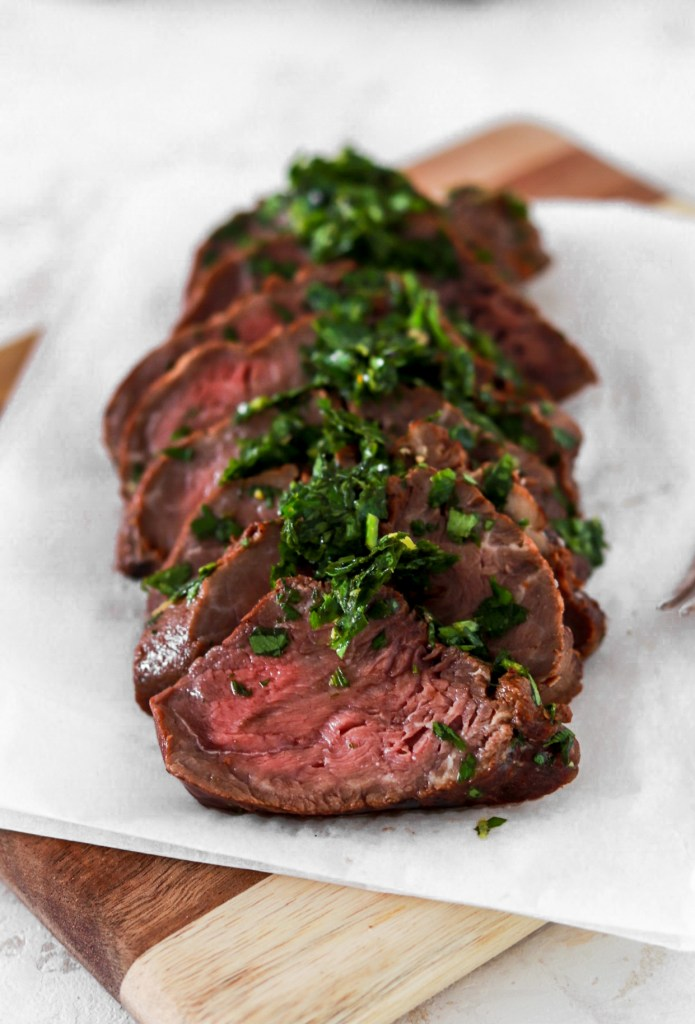 Double Marinated Beef Tenderloin From Close Up