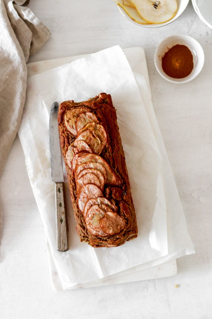 Pear Banana Bread (Gluten, Dairy, Sugar & Oil Free) From Above