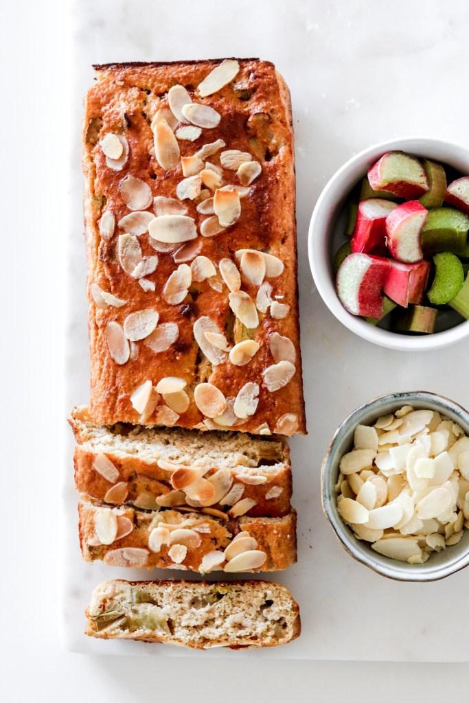 Rhubarb & Cardamom Cake (Gluten, Sugar & Oil Free) From Above